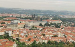Prag, pogled sa tornja na Petrini